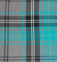Fabric - Turquoise And Grey Tartan