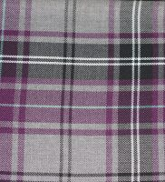 Fabric - Purple And Grey Tartan