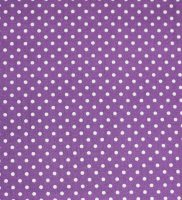 Fabric - Purple With White Spots
