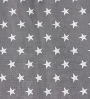 Fabric - Grey With White Stars