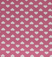 fabric-dusky pink with white hearts