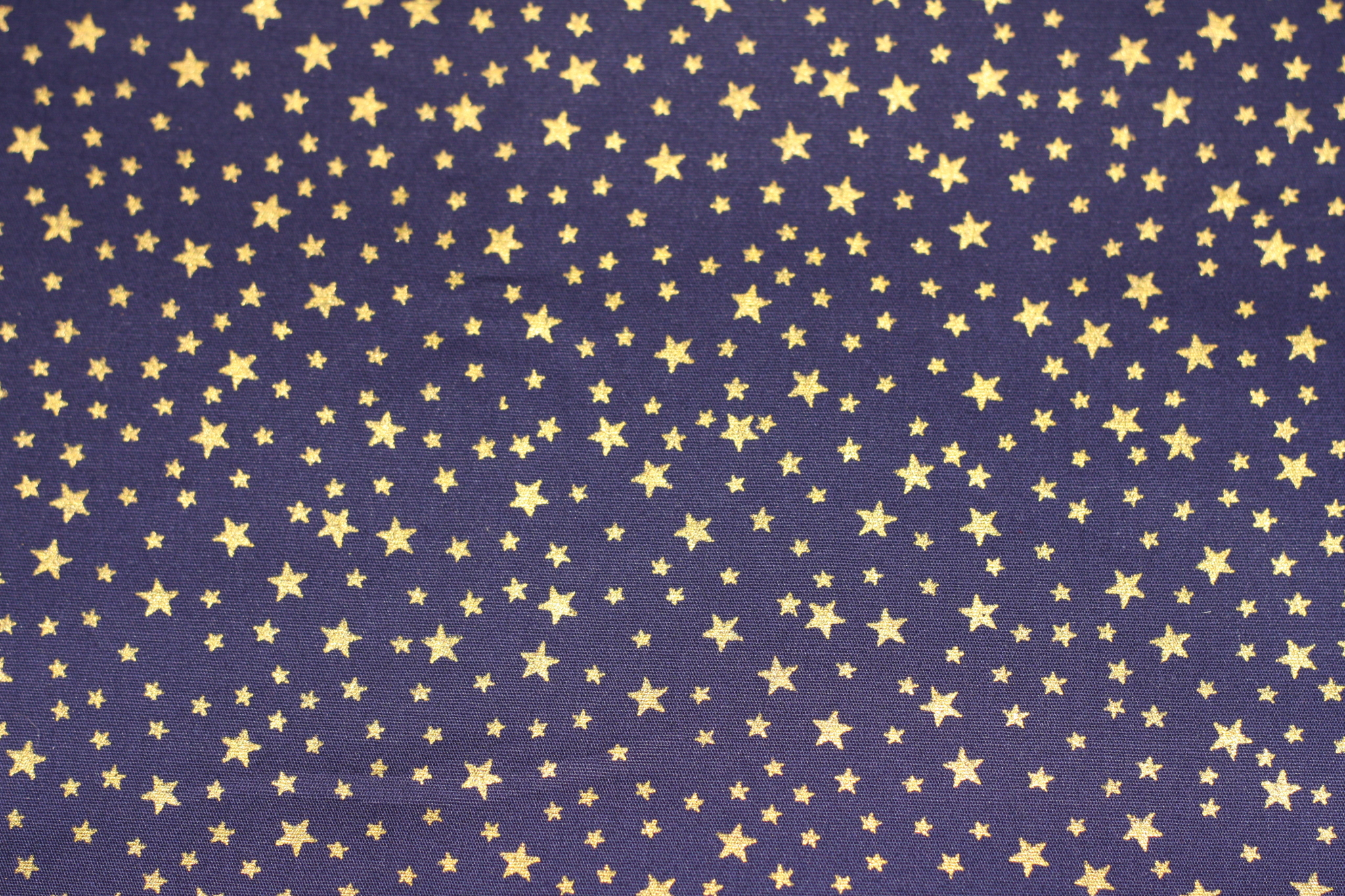 Fabric navy blue with gold stars fur n fabric for Star design fabric