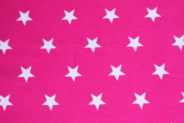 Fabric - pink with white stars