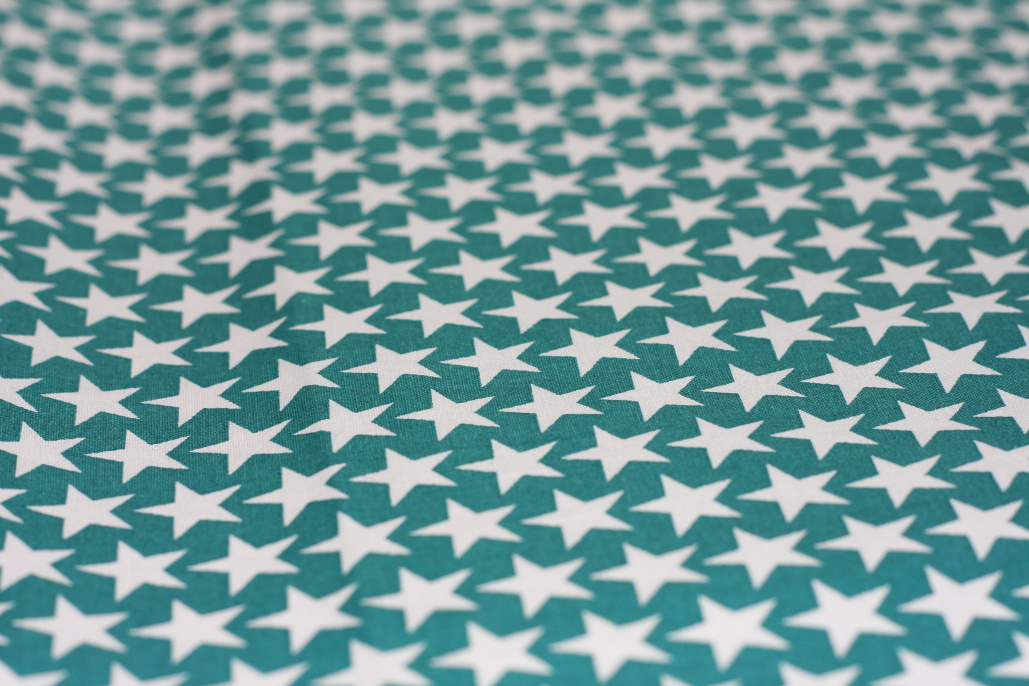 Fabric - white stars on teal