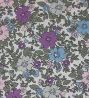 fabric - lilac , pink flowers