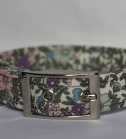 lilac , pink flowers dog collar