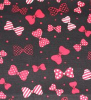 Fabric - Red Bows On Black