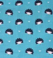 fabric-hedgehog on turquoise