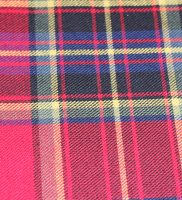 Fabric - red blue yellow tartan