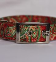 Christmas Paisley Dog Collar